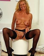 Horny granny gobbles knob for entertainment