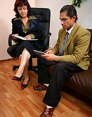 Mom fucked in office