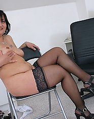 This horny old slut really loves the cock
