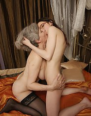 Hot babe doing her way older lesbian girlfriend