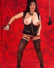 BDSM granny loves whips and chains