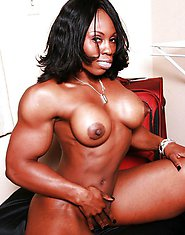 MUSCLE EBONY BABE