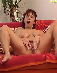 Mom goes real nasty while playing with her sex toy