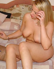 Mature lesbian enjoying a teeny one