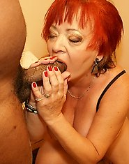 Hot grannie loves big cock
